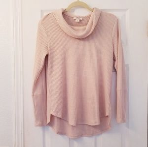 Gorgeous muted pink slouchy sweater
